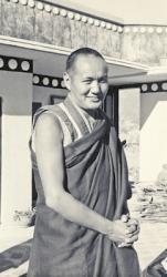 Portrait of Lama Yeshe on the roof at Kopan Monastery, Kathmandu, Nepal, 1974.