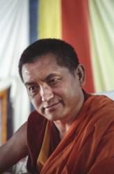 Lama Zopa Rinpoche, 1989. Photo by Ueli Minder.