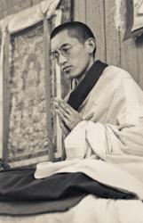 Lama Zopa Rinpoche at Lake Arrowhead, California, 1975. Photo: Carol Royce-Wilder.