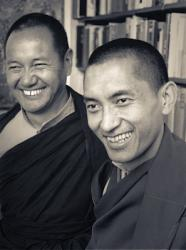 Lama Yeshe and Lama Zopa Rinpoche, New Zealand, June 1975.