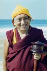Lama Zopa Rinpoche in Mexico, January 2000. Photo by Brian Halterman.