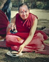 Lama Yeshe, Kathmandu Nepal 1980. Photo: Tom Castles