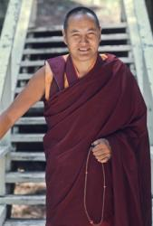 Lama Yeshe, Lake Arrowhead, California, USA, 1975. Photo: Carol Royce-Wilder.