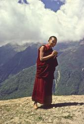 Rinpoche at Lawudo, 1978. Photo: Peter Iseli.