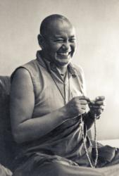 Lama Yeshe teaching at University of California, Santa Cruz, USA, 1978. Photo: Jon Landaw.