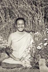 Lama Yeshe at Kopan Monastery, Nepal, 1970. Photo: Fred von Allmen.