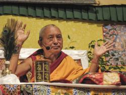 Lama Zopa Rinpoche, 2009. Photo by Ven. Kunsang.