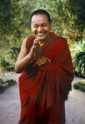 Lama Yeshe, Kopan Monastery, Nepal, 1981. Photo: Merry Colony