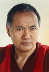 Portrait of Lama Yeshe, Geneva, Switzerland, 1983. Photo by Ueli Minder.