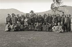 Lama Yeshe, Lama Zopa RInpoche and students at the Third Kopan Meditation Course, Nepal, December 1972. Photo donated by Adele Hulse.