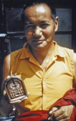 Lama Yeshe, Kopan Monastery, Nepal, 1973. Photo by Lynda Millspaugh.