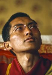 Lama Zopa Rinpoche teaching at the Seventh Meditation Course, Kopan Monastery, Nepal, 1974. Photo: Wendy Finster.