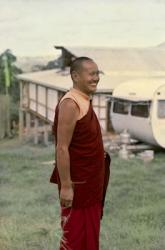 Lama Yeshe during the month-long course at Chenrezig Institute, Australia, May 1975.
