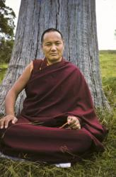 Lama Yeshe on Saka Dawa at Chenrezig Institute, Australia, 1975. Photo: Wendy Finster.