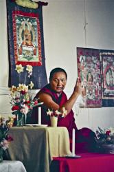 Lama Yeshe teaching in Belgrave Heights, a small town near Melbourne, Australia, July 1976.