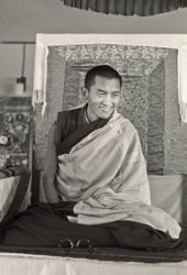 Lama Zopa Rinpoche teaching at Chenrezig Institute, Australia, 1976.