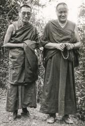 Lama Yeshe and Lama Zopa Rinpoche, Kopan Monastery, Nepal, 1978. Photo by Robin Bath.