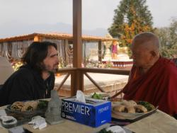 Tenzin Ösel Hita and Lama Zopa Rinpoche at Kopan Monastery, Nepal, February 2016. Photo: Holly Ansett.