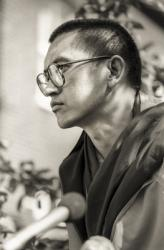 Lama Zopa Rinpoche, Manjushri London (Jamyang Buddhist Centre), 1983. Photo: Robin Bath.