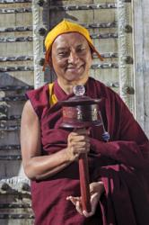 Lama Zopa Rinpoche in Taos, New Mexico, 1999. Photo: Lenny Foster.