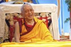 Lama Zopa Rinpoche at Maitripa College, USA, 2010. Photo: Marc Sakamoto.