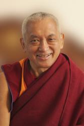 Portrait of Lama Zopa Rinpoche, 2010. Photo: Ven. Roger Kunsang.