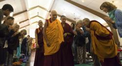 Lama Zopa Rinpoche at Light of the Path retreat in North Carolina, Spring 2014. Photo by Roy Harvey.