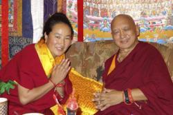 Khadro-la with Lama Zopa Rinpoche at Kopan Monastery, Nepal, 2014.