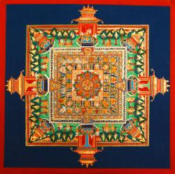 Medicine Buddha mandala. Photo courtesy of FPMT.