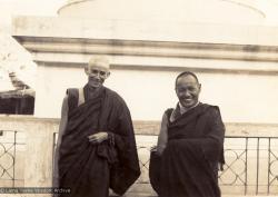 (00602_ud-2.psd) Ann McNeil (Anila Ann) and Lama Yeshe, 1970