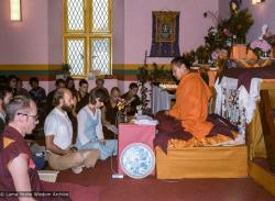 (03479_ng-3.JPG) Jan Paul and Margot Kool being married to Lama Yeshe, Manjushri Institute, England, 1978.