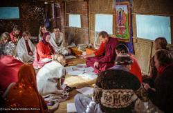 (03545_ng-3.JPG) Tibetan medicine course with Adrian Feldmann (Thubten Gyatso), Kopan Monastery, Nepal, 1980. Jan-Paul Kool (photographer)