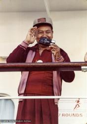 (04622_pr-3.JPG) Lama Yeshe on the cruise to Alaska, 1980. Max Mathews (photographer)