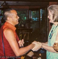 (05408_pr-3.psd) Lama Yeshe with Louie-Bob Wood, Indiana, 1974.