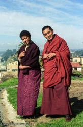(05841_ng-3.jpg) Max Mathews and Lama Zopa Rinpoche, Aptos, California, 1984. Åge Delbanco (photographer)