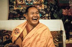 (06621_ng.JPG) Lama Yeshe teaching at Vajrapani Institute, California, 1983. Photos by Carol Royce-Wilder.