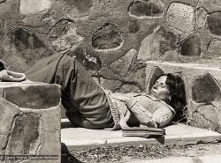 (06837_ng-3.JPG) Carol Royce-Wilder, photographer, taking a break, Yucca Valley retreat, CA 1977.