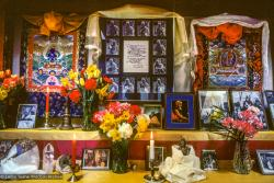 (09959_sl.JPG) A cycle of pujas were done for Lama Yeshe before the formal cremation, Vajrapani Institute, California, 1984. Photo by Ricardo de Aratanha.