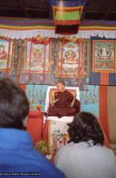 (10246_ng.JPG) Lama Yeshe giving final teaching at Kopan Monastery, Nepal, 1983. Photo by Wendy Finster.