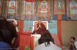 (10247_ng.JPG) Lama Yeshe giving final teaching at Kopan Monastery, Nepal, 1983. Photo by Wendy Finster.
