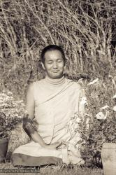 (10273_ng-2.psd) Portrait of Lama Yeshe taken at Kopan Monastery at the end of the first meditation course, Nepal, 1971. Photo by Fred von Allmen.