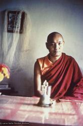 (10445_pr-2.psd) Portrait of Lama Yeshe taken most likely at Kopan Monastery, Nepal, 1974.