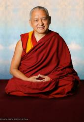 (10546_ud.psd) Portrait of Kyabje Lama Zopa Rinpoche taken in Portland, Oregon by John Berthold, 2006.