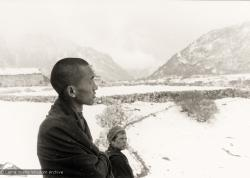 (12027_pr2.jpg) Lama Zopa Rinpoche (left) and Zina Rachevsky at Thangme. Photo from the first trek to Lawudo Retreat Center in Nepal, spring of 1969. Lawudo was the hermitage of the Lawudo Lama, the former incarnation of Lama Zopa Rinpoche. Photos by George Luneau. (Photo used with permission of the estate of Zina Rachevsky.)