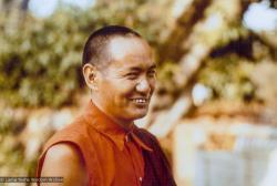 (12331_pr-2.tif) Lama Yeshe at Kopan Monastery, Nepal, 1974.