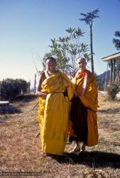 (12504_sl.jpg) Lama Yeshe and Sylvia White after the first ordination of western students, 1970