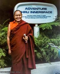 (12546_pr-3.psd) Lama Yeshe at Disneyland, CA, 1977. Judy Weitzner (donor)