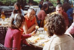 (12550_pr-3.psd) Lama Yeshe with Carol Royce-Wilder, Michael Wilder and Peter Kedge, Disneyland, 1977. Judy Weitzner (photographer)