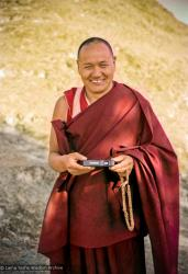 (12611_ng-2.psd) Lama Yeshe on Asrologer's Hill, 1975. Photo from the 8th Meditation Course at Kopan Monastery, Nepal, 1975.