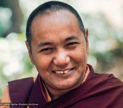 (12678_sl.jpg) Lama Yeshe, Lake Arrowhead, 1975. This photo is from a three week retreat the lamas taught at Camp Arrowpines on Lake Arrowhead, east of Los Angeles, USA, 1975. Photo by Carol Royce-Wilder.